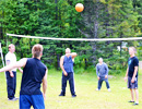 Teen Challenge Alberta - A game of Volleyball at Camp